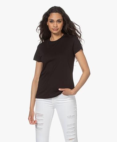 Vince Essential Crew Pima Cotton T-shirt - Black