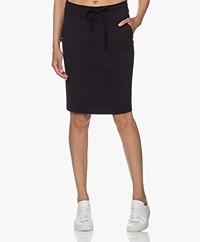 Woman by Earn Hadewych Ponte Jersey Pencil Skirt - Navy