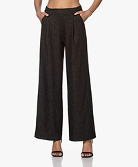 JapanTKY Pola Jersey Lurex Printed Pants - Black/Gold