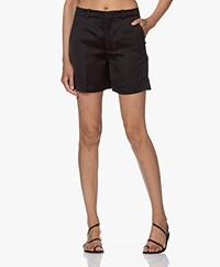 Drykorn Affair Linen Blend Shorts - Black