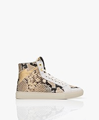 Zadig & Voltaire High Flash Printed Leather Sneakers - Desert