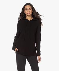 Sibin/Linnebjerg Freja Knitted Hooded Sweater - Black