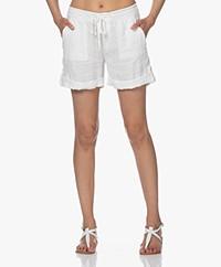 Josephine & Co Loyd Linen Bermuda Shorts - Off-white