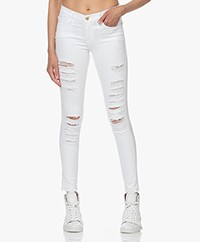 FRAME Le Skinny de Jeanne Ripped Jeans - White