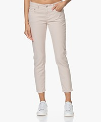 Closed Baker Mid-rise Slim-fit Twill Pants - Lychee