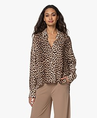 Drykorn Cloelia Leopard Printed Shirt - Warm Sand