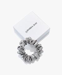 By Dariia Day Mulberry Silk Scrunchie Small - Silver Grey