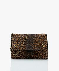 Jerome Dreyfuss Lulu M Leather Shoulder/Cross-body Bag - Light Leopard