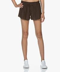 James Perse Silk Charmeuse Shorts - Kona