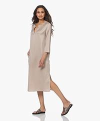 Drykorn Virpi Cupro Blend Midi Dress - Beige