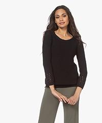 Kyra & Ko Lineke Tape Yarn Sweater - Black