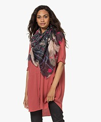 Zadig & Voltaire Kerry Bleached Modal Printed Scarf - Black/Multi-color