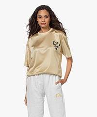 Dolly Sports Team Dolly Perforated Printed Mesh T-shirt - Light Beige