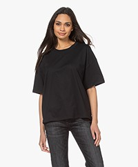 ba&sh Amor Cotton T-shirt - Black