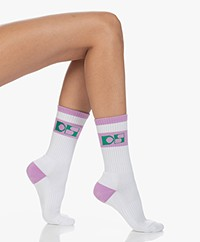 Dolly Sports Jackie Retro Logo Socks - Pink