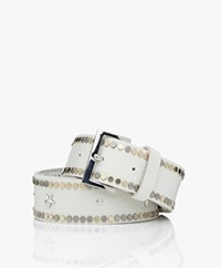 Zadig & Voltaire Starlight Leather Belt - Off-white