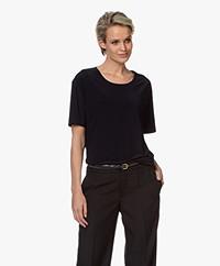 Norma Kamali Tech Jersey T-shirt - Midnight
