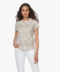 Rag & Bone All Over Camo Pima Cotton T-shirt - Ivory