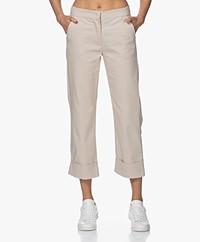 LaSalle Rechte Stretch-Katoenmix Pantalon - Zand