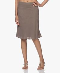 Belluna Horizon Linen A-line Skirt - Taupe