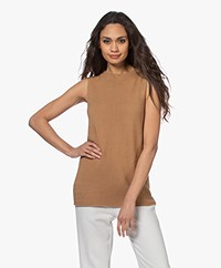 no man's land Seamless Knitted Top - Toffee