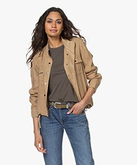 Rails Collins Linen and Cupro Blend Jacket - Toffee