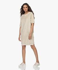 by-bar Neva Slub French Terry Sweater Dress - Chalk