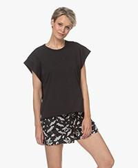 Rag & Bone Ryder Muscle Bio Katoenen T-shirt - Zwart