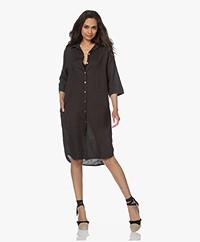 by-bar Bodil Linen Shirt Dress - Jet Black