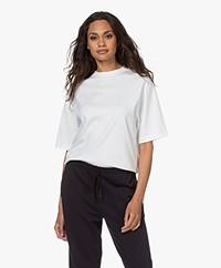 Vince Wide Crop Pima Cotton T-shirt - Optic White