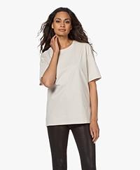 Filippa K Dagny Oversized Cotton T-shirt - Ivory