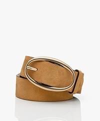 Vanessa Bruno Suede Leather Belt - Camel