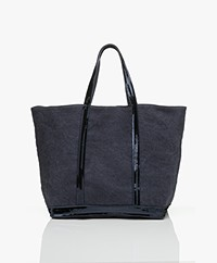 Vanessa Bruno Large Linen Shopper - Denim