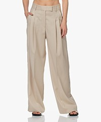 By Malene Birger Cymbaria Wool Blend Pantalon with Wide Legs - Wood