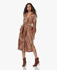 LaSalle Crepe Viscose Print Shirt Dress - Arizona