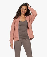 Rag & Bone City French Terry Zip Jacket - Mauved Out