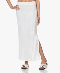 Joseph Rib Knitted Maxi Skirt - Off-white
