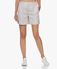 Drykorn Affair Linen Blend Shorts - Beige