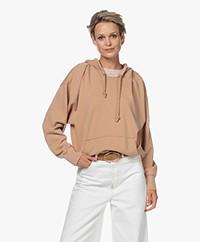 By Malene Birger Sibel French Terry Hooded Sweatshirt - Chanterelle