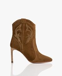 ba&sh Caitlin Suede Ankle Boots - Bronze