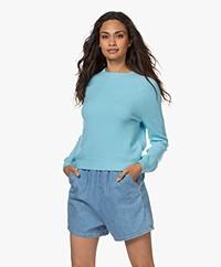 American Vintage Damsville Wool Blend Round Neck Sweater - Oasis