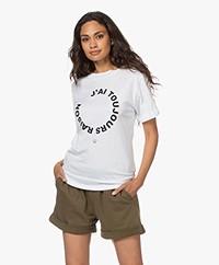 Plein Publique Je M'en Fous Modal Blend T-shirt - White