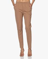 LaSalle Ponte Jersey Slim-fit Pants - Camel
