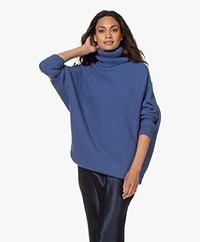 Sibin/Linnebjerg Hannover Merino Wool Blend Turtleneck Sweater - Clear blue