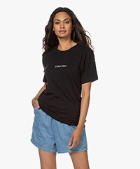 Calvin Klein Modern Structure Cotton Blend T-shirt - Black