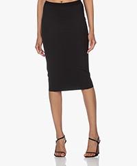 JapanTKY Nosi Jersey Pencil Skirt - Black