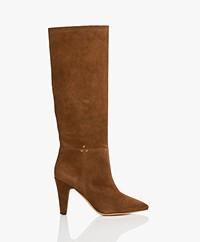 Jerome Dreyfuss Sandie Suede Boots - Dark Brown