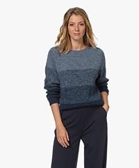 Sibin/Linnebjerg Aki Mohair Blend Sweater - Petrol/Greysih Blue