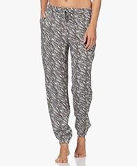 Calvin Klein Printed Pajama Pants - Sway Print Antique Grey