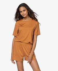 Organic Basics Tencel Jersey T-shirt - Ochre Yellow